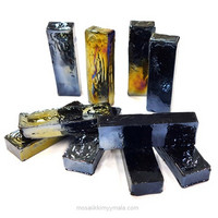 Form Glass, Rectangle, Deep Night, 10 pcs