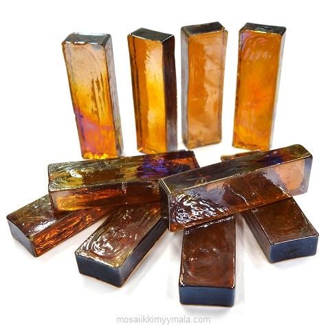 Form Glas, Rektangel, Amber, 10 st