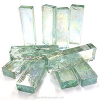 Form Glass, Rectangle, Crystal, 10 pcs