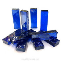 Form Glass, Rectangle, Royal Blue, 10 pcs