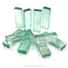Form Glass, Rectangle, Aqua, 10 pcs