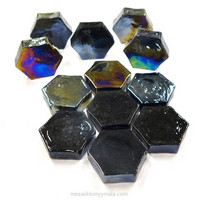 Form Glass, Hexagon, Musta, 12 kpl