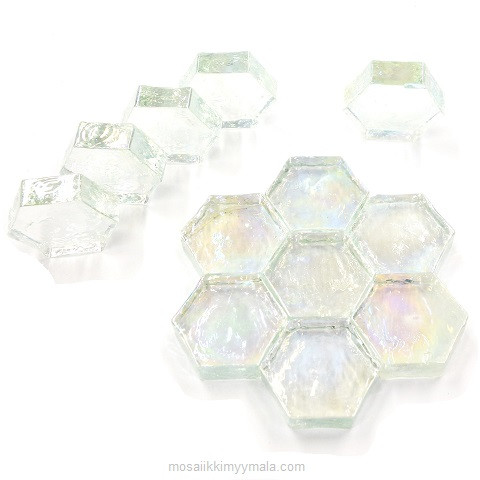 Form Glass, Hexagon, Clear, 12 kpl