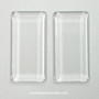 Cabouchon, rectangle, 48x24 mm, 2 pcs