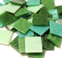 Joy Glass, Green Mix, 2x2 cm, 1 kg