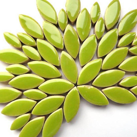 Keramiska löv, Kiwi, 50 g
