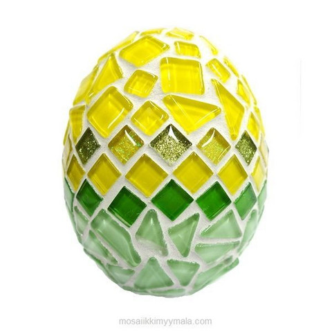 Easter egg, yellow-green, DIY