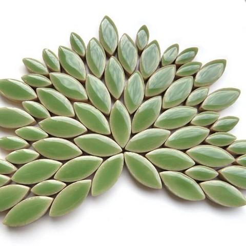 Ceramic leaves, Jade, 50 g