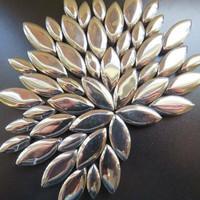 Ceramic leaves, Silver, 50 g