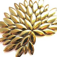 Ceramic leaves, Gold, 50 g