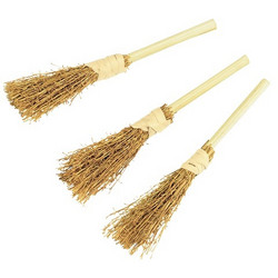 Decorative brooms, 3 pcs.
