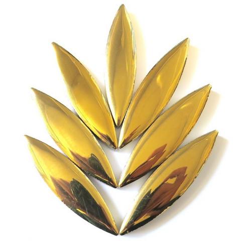 Keramiska ellips, Gold, 8 st