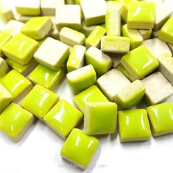 Mini Glazed Ceramic, Lime, 150 g