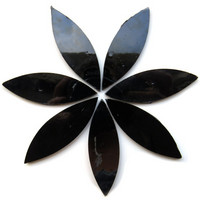Large petals, Black, 7 pcs