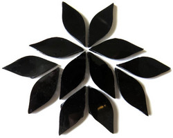 Small petals, Black, 12 pcs