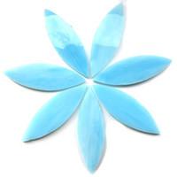 Large petals, Azurite, 7 pcs