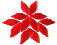 Small petals, Red, 12 pcs