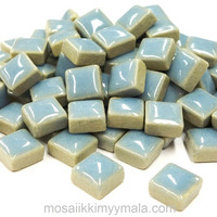 Mini Glazed Ceramic, Light Blue, 150g