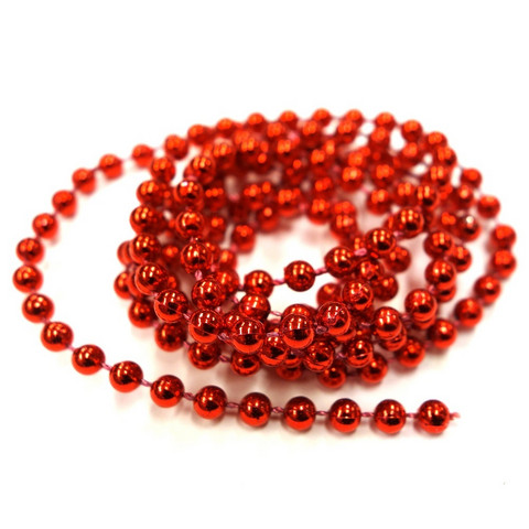 Decorative chain, red, 1 m