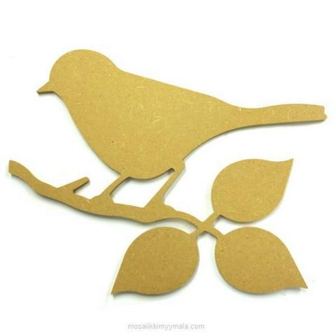 MDF-fågel, 24 cm