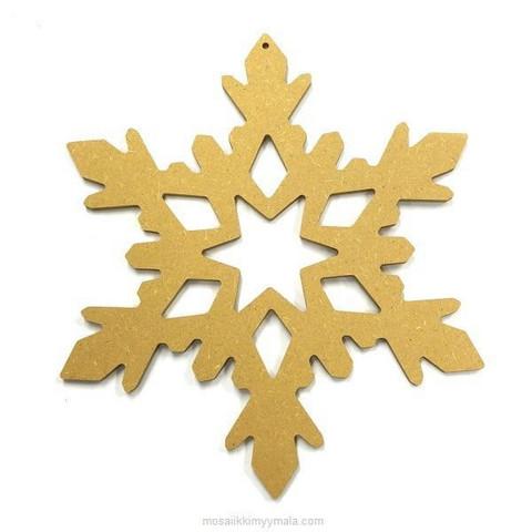 MDF-snowflake, 25 cm