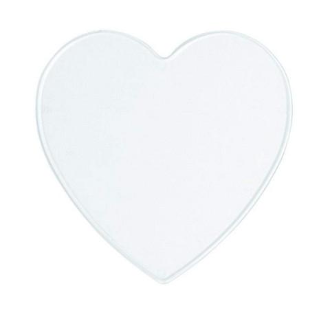 Plastic disc, heart, 10 cm, 2 pcs