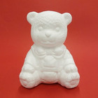 Frigolitfigur, nallebjörn, sittande, 16 cm