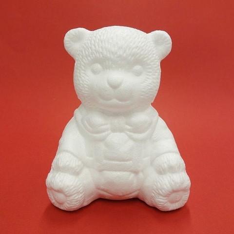 Styrofoam-bear, sedentary, 16 cm