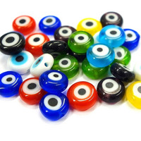 Millefiori glass beads, round, 8 mm, mix