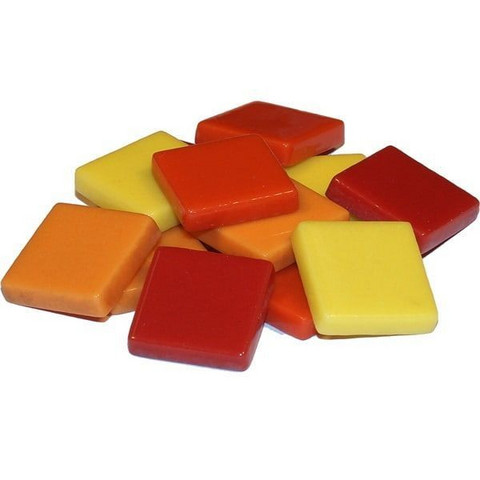 Fantasy Glass 20 mm, Yellow-Red Mix, 1 kg