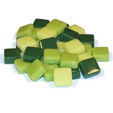 Fantasy Glass 10 mm, Green Mix, 1 kg