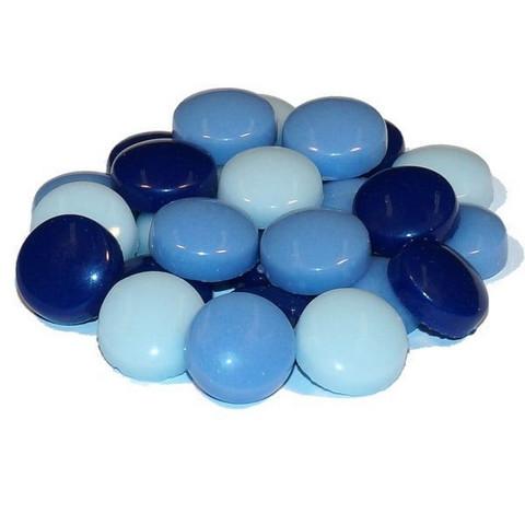 Fantasy Glas, Runda 12 mm, Blå Mix, 1 kg