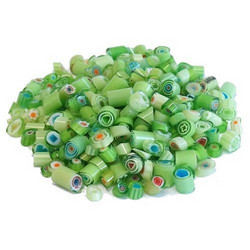 Millefiori, Mosaikstein, Green Mix Ø 4-5 mm, 50 g