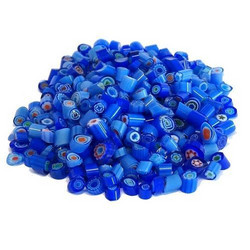 Millefiori, Mosaikstein, Blue Mix Ø 4-5 mm, 50 g