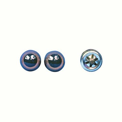 Plastic animals' eyes to stick on dark brown, 2 pcs