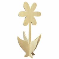 3D wooden flower, 35 cm