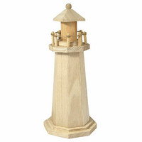 Wooden lighthouse, 25 cm