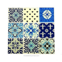 Glass mosaic, Arabesque, 9 pcs