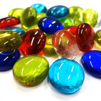 Glass Gems, Multicolour Mix, 100 g