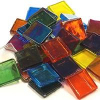 Ice Glass, läpikuultava, Multicolour Mix 200 g