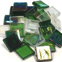 Ice Glass, transparent, Green Mix 200 g