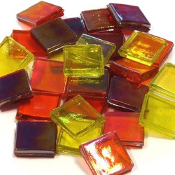 Ice Glass, läpikuultava, Yellow-Red Mix 200 g
