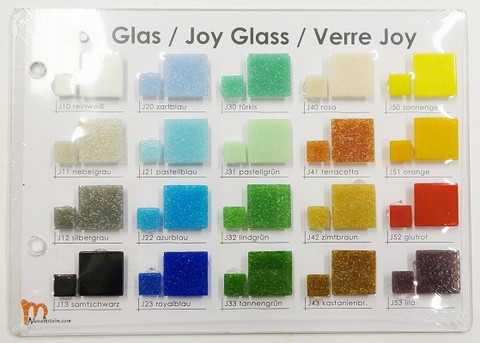 Sample board, Mosaikstein, Joy Glass