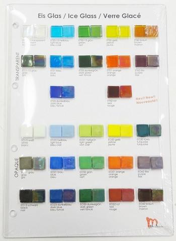 Sample board, Mosaikstein, Ice Glass