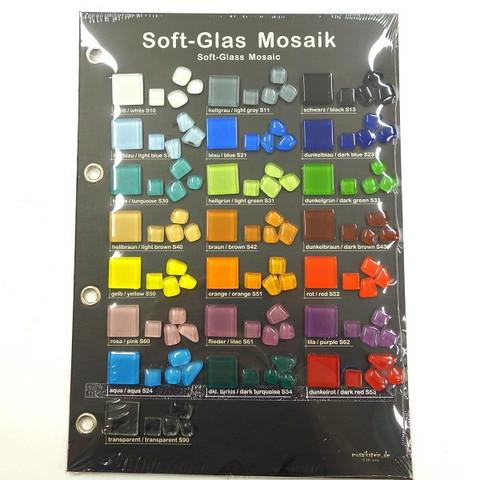 Färgkarta, Mosaikstein, Soft Glass
