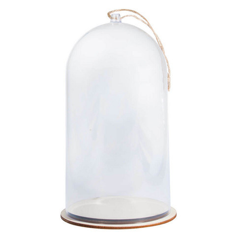 Plastic cloche with base, 19cm