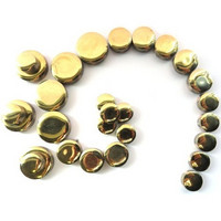 Glazed ceramic circles, Gold, 50 g