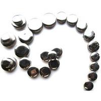 Lasitetut keraamiset ympyrät, Silver, 50 g