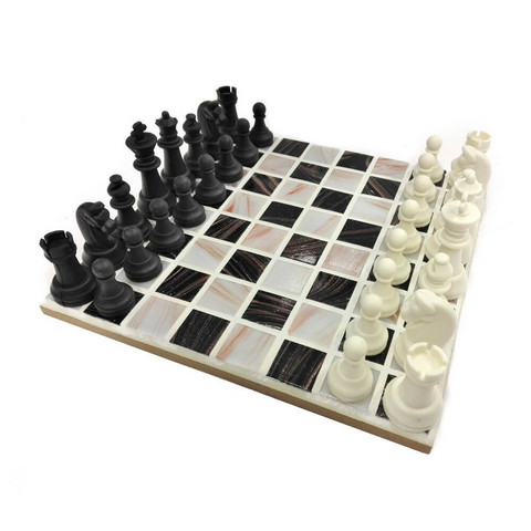 Mosaic Chessboard, Black-White, DIY