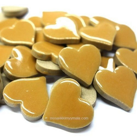 Keramiska Hjärtan, Beige, 50 g